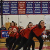 GREG SUKIENNIK -- BENNINGTON BANNER<br /> Burr and Burton Academy breaks out of a straight line as they start their hip-hop routine during competition at Mount Anthony Union High School on Jan. 19, 2018.