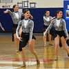 GREG SUKIENNIK -- BENNINGTON BANNER<br /> The Lamoille Union High School dance team performs a jazz routine during a meet at Mount Anthony Union High School on Jan. 19, 2018. Lamoille finished first in jazz and hip-hop.