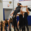 GREG SUKIENNIK -- BENNINGTON BANNER<br /> Burr and Burton Academy dance team member Amber Rachele is supported by (left to right) Rowan Russell, Shaye Squillante and Charlotte Swenor during a jazz routine at Mount Anthony Union High School on Jan. 19, 2018.