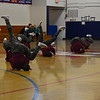 GREG SUKIENNIK -- BENNINGTON BANNER<br /> The Mount Anthony Union High School dance team executes a break dancing move during the hip-hop competition at a dance meet at MAU on Jan. 19, 2018.