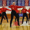 GREG SUKIENNIK -- BENNINGTON BANNER<br /> The Burr and Burton Academy dance performs a hip-hop routine during a dance meet at Mount Anthony Union High School on Jan. 19, 2018. In front is Jillian Ihasz;  in the second row, left to right, are Shaye Squillante and Charlotte Swenor, and in the third row at rear are, left to right, Lily Cole, Julia Brand, and Ava Walsh.