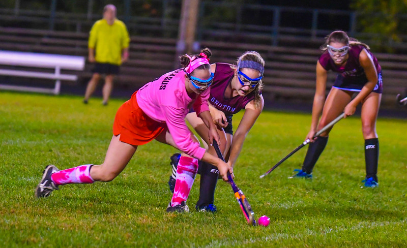 North Middlesex and Groton-Dunstable played to a 2-2 tie during Monday night's Pink game. Nashoba Valley Voice/Ed Niser