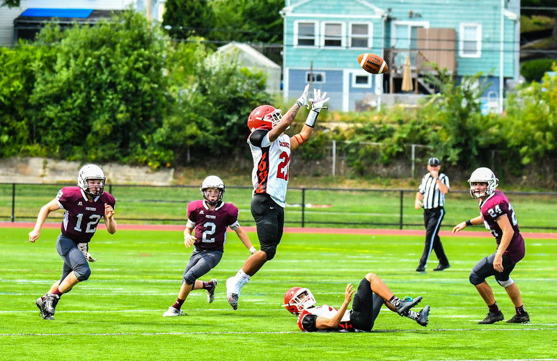 South's Miguel Moronta looks in a pass. Nashoba Valley Voice/Ed Niser