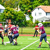 Ayer Shirley quarterback Steven Lawton fires a pass. Nashoba Valley Voice/Ed Niser