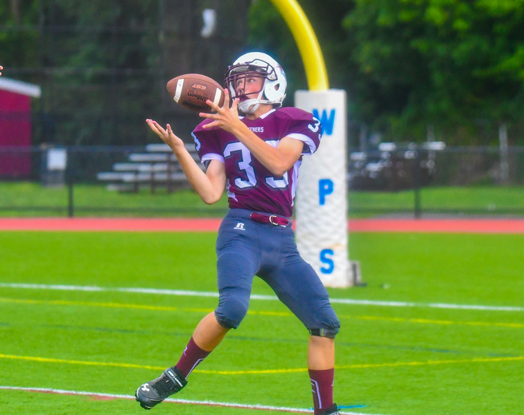 Ayer Shirley's Matt Blood hauls in a touchdown pass during Saturday's game. Nashoba Valley Voice
