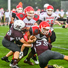 Ayer Shirley's Steven Lawton (12) and Jaden Hamilton deck South's Fabian Ojeda. Nashoba Valley Voice/Ed Niser