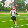 South quarterback Keith Berthiaume fires a pass. Nashoba Valley Voice/Ed Niser