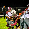 Ayer Shirley running back Jimmy Robinson is stopped for a loss during Friday night's loss. Nashoba Valley Voice/Ed Niser