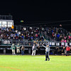 Fans fill the bleachers during Friday night's game at Clinton. Nashoba Valley Voice/Ed Niser