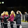 Ayer Shirley cheerleaders cheer on the Panthers during Friday night's road loss to Clinton. Nashoba Valley Voice/Ed Niser