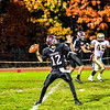 Groton-Dunstable quarterback looks to pass during Friday night's loss to Shepherd Hill. Nashoba Valley Voice/Ed Niser