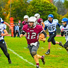 Ayer Shirley's Steven Lawton takes off down the sidelines during Saturday's loss to West Boylston. Nashoba Valley Voice/Ed Niser