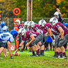 The Ayer Shirley offensive line gets into position during Saturday's loss. Nashoba Valley Voice/Ed Niser