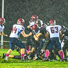 Groton-Dunstable fell in overtime to Westboro at Tyngsboro High School Sunday night. Lightning struck the Crusaders' home field Friday, which forced the game to be moved to Tyngsboro. Nashoba Valley Voice/Ed Niser