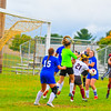 Ayer Shirley's Eliza Cuoco makes a play on the ball during Monday's draw with Lunenburg. Nashoba Valley Voice/Ed Niser