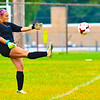 Ayer Shirley goalkeeper Natalie Carroll punts the ball during Monday's tie with Lunenburg. Nashoba Valley Voice/Ed Niser