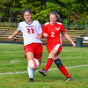 North Middlesex's Julia Cappelini defends during Monday's match with Hudson. Nashoba Valley Voice/Ed Niser