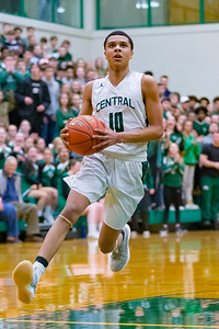 Central Dauphin hosts Manheim Township in the second round of the 6A District 3 Playoffs on February 19, 2019.