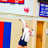 North Middlesex's Sarah Kleeman serves the ball during Tuesday's match against Hudson. Nashoba Valley Voice/Ed Niser