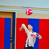North MIddlesex senior co-captain Kayleigh Bryant serves the ball during Tuesday's match. Nashoba Valley Voice/Ed Niser