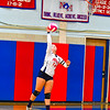North Middlesex's Ashley Osborne serves the ball during Tuesday's match. Nashoba Valley Voice/Ed Niser