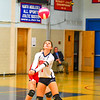 North Middlesex's Kayleigh Bryant sets the ball during Tuesday's win over Hudson. Nashoba Valley Voice/Ed Niser