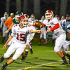 Fitchburg quarterback Andrew Brooks pitches the ball during Thursday night's loss to Oakmont. Sentinel & Enterprise/Ed Niser