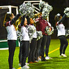 Fitchburg cheerleaders root on the Red Raiders during Thursday night's win at Oakmont. Sentinel & Enterprise/Ed Niser