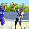 Groton-Dunstable quarterback Michael Tammaro throws a pass during Saturday's loss at St. Peter Marian. Nashoba Valley Voice/Ed Niser