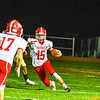 North Middlesex quarterback Joe Haskins finds a running gap during Friday's action. Nashoba Valley Voice/Ed Niser