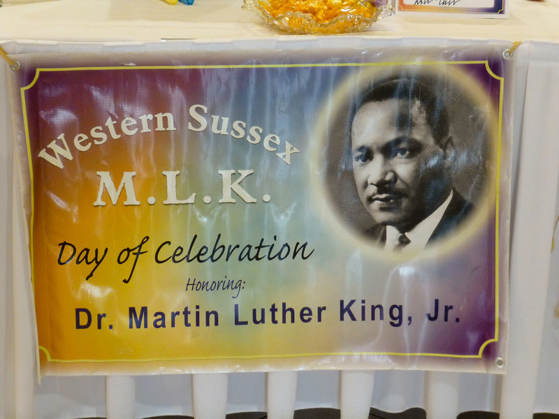 Dr. Martin Luther King, Jr. celebration held by Western Sussex County in  H.S. Clubhouse January 21, 2012.