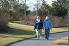 Heather and Warren talk a walk on a warm day in January 2012.