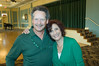 Tina and Dennis Hill , residents, having fun during St. Patrick's Day promotion for new home buyers.