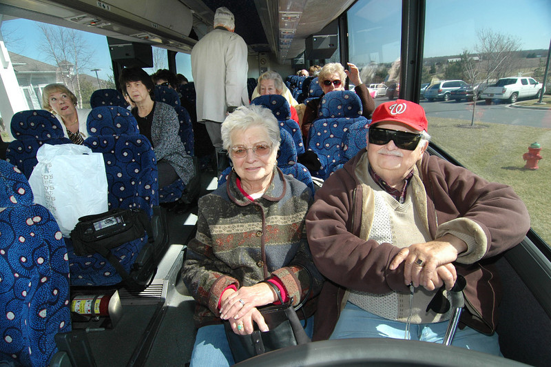 Miles and Trudi Zich, 90 Emily's Pintail, take a Bus trip to Philadelphia Flower Show.