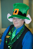 Jon is on staff and serves during a St. Patrick's Day promotion for perspective new home owners.