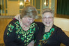 Dottie and Marge Lynch, a resident, having fun during St. Patrick's Day promotion for new home buyers.