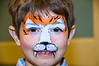Easter Sunday Brunch -- with many children able to have their face painted and see the Easter Bunny.  Connor Rennert gets a face done by Sandy Johnson of the Sunshine Entertainment  Company 410-749-0904