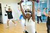 Margo Faircloth leads Zumba with toning sticks