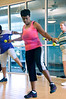 Pat Smith in Zumba with toning sticks