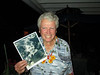 John Barr has a picture of himself when 3 years-old.  John celebrated his 75th Birthday with wife, Francoise and friends living in Heritage Shores.