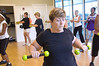 Zumba with toning sticks.  Pat McDonald is in foreground.