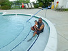 Last day in outdoor pool. September 1 on a Monday, 2014.