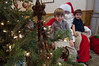Left to right, Austin Dostal, Santa(Daniel Phillips Sous Chef HS Club) and Ryan Dostal at Annual Brunch with Santa.