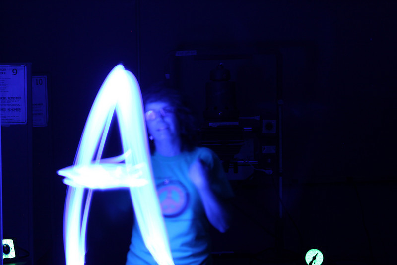 High School Classes - 1/10/2011 Art Class - Light Painting