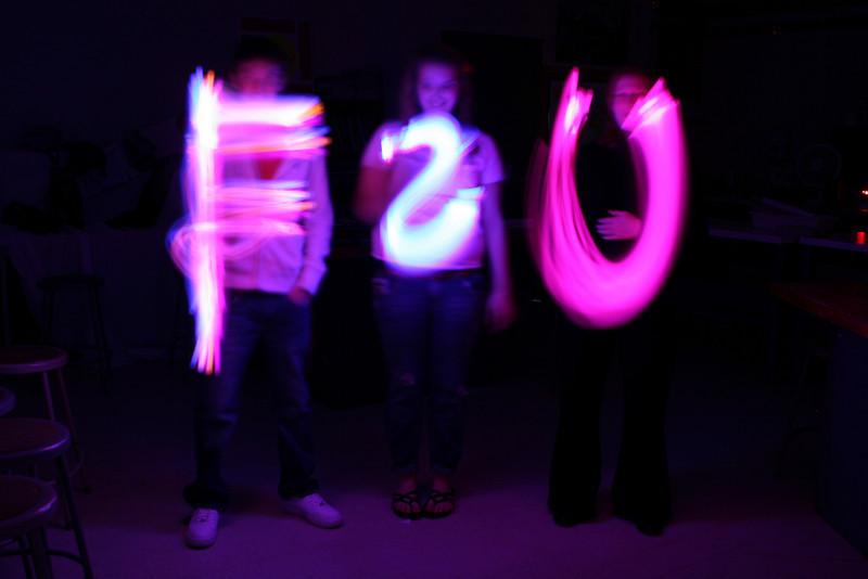 High School Classes - 1/10/2011 Art Class - Light Painting