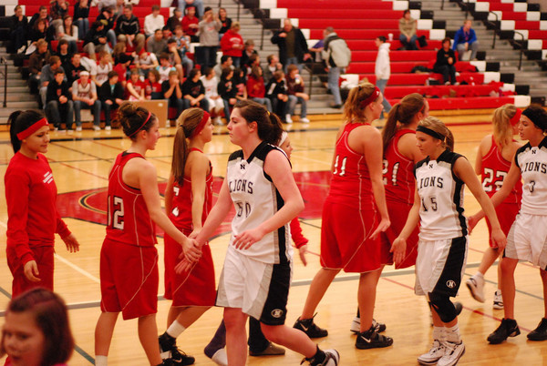 Girls Varsity Basketball - 3/1/2010 Districts Newaygo (Julie Gardenour)