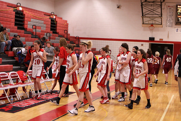 Girls JV Basketball - 1/26/2012 Orchard View