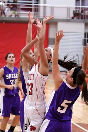 Girls Varsity Basketball - 12/4/2012 Shelby