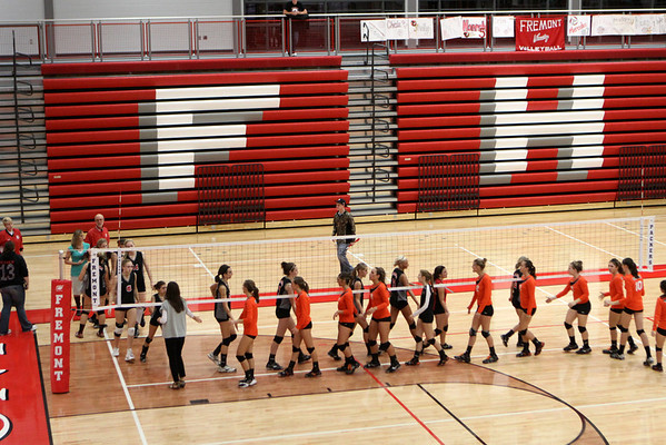 Girls Varsity Volleyball - 10/23/12/2012 Crossover Quad (Seniors Night)
