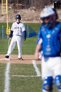 BEN KAUFMANN, St. Albans Messenger Jonathan Palmer stands at first base after reaching on an error.